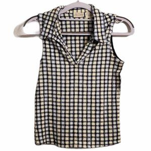 ST. JOHN'S BAY Checkered Top Small Vintage 90's